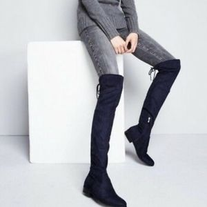 Marc Fisher Olympia blue over the knee boots